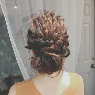 大人かわいい 結婚式 ロング ゆるふわ ヘアスタイルや髪型の写真・画像