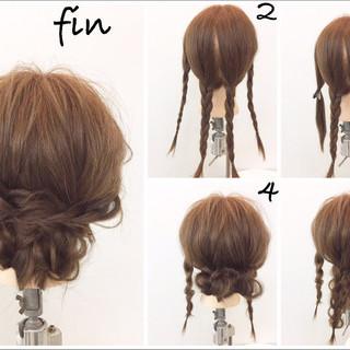 大人かわいい ショート ヘアアレンジ ミディアム ヘアスタイルや髪型の写真・画像