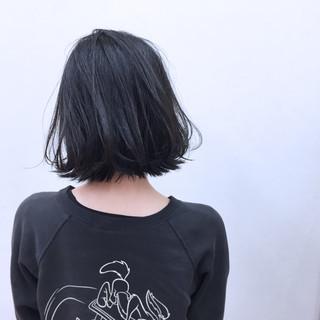 暗髪 ボブ ストリート 簡単ヘアアレンジ ヘアスタイルや髪型の写真・画像