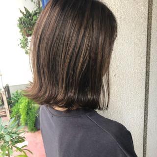 スモーキーカラー ボブ ミニボブ ナチュラル ヘアスタイルや髪型の写真・画像