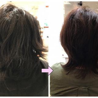 透明感 レイヤーカット ナチュラル ミディアム ヘアスタイルや髪型の写真・画像