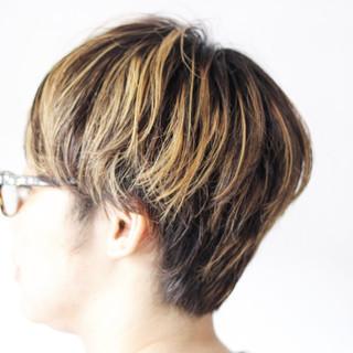 ショートボブ ショートヘア マッシュショート ハンサムショート ヘアスタイルや髪型の写真・画像