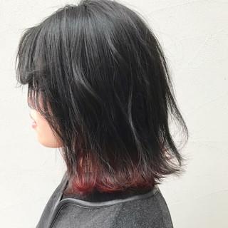 黒髪 レッド ストリート 学校 ヘアスタイルや髪型の写真・画像