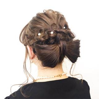 ロング デート 結婚式 フェミニン ヘアスタイルや髪型の写真・画像