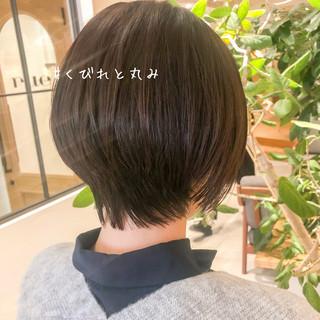 抜け感 ショートボブ マッシュショート ナチュラル ヘアスタイルや髪型の写真・画像
