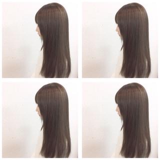 ロング 暗髪 ハイライト ストリート ヘアスタイルや髪型の写真・画像