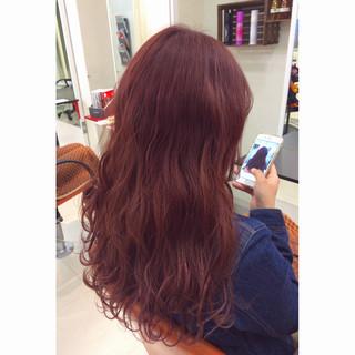 暗髪 ピンク ゆるふわ ピンクブラウン ヘアスタイルや髪型の写真・画像