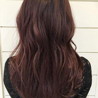 暗髪 ゆるふわ ガーリー ハイライト ヘアスタイルや髪型の写真・画像