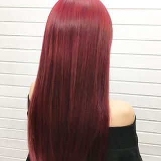 エレガント 上品 レッド 女子力 ヘアスタイルや髪型の写真・画像