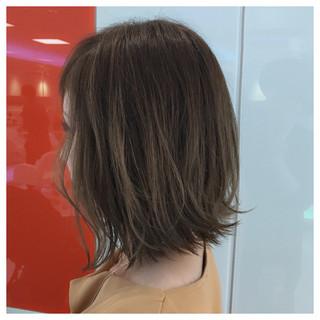 グラデーションカラー 外国人風カラー ボブ グレージュ ヘアスタイルや髪型の写真・画像