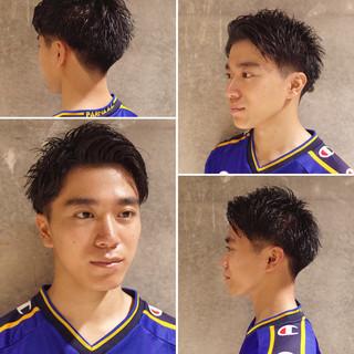 メンズショート ツーブロック ストリート メンズヘア ヘアスタイルや髪型の写真・画像