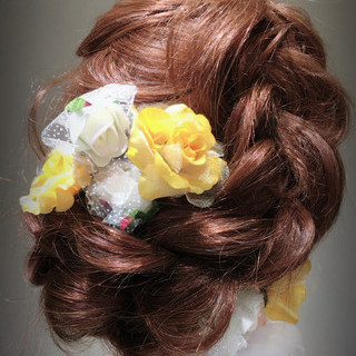 着物 ヘアアレンジ 謝恩会 ロング ヘアスタイルや髪型の写真・画像