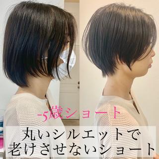 ベリーショート ショートボブ ショート ナチュラル ヘアスタイルや髪型の写真・画像