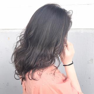 黒髪 ミディアム アッシュ ミルクティー ヘアスタイルや髪型の写真・画像