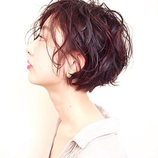 フェミニン ラベンダーピンク パーマ モテ髪 ヘアスタイルや髪型の写真・画像