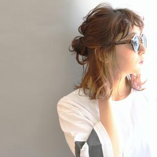 ストリート パーマ 外国人風 ミディアム ヘアスタイルや髪型の写真・画像