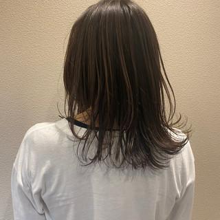 大人かわいい ゆるふわ セミロング アンニュイほつれヘア ヘアスタイルや髪型の写真・画像