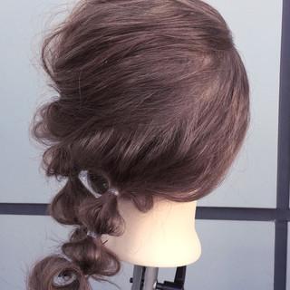 アッシュ セミロング ショート 大人女子 ヘアスタイルや髪型の写真・画像
