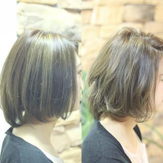 グレージュ 外国人風カラー 外国人風 ハイライト ヘアスタイルや髪型の写真・画像