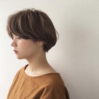 大人かわいい ナチュラル ショートボブ ショート ヘアスタイルや髪型の写真・画像