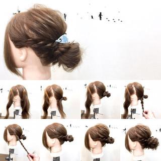 ゆるふわ ヘアアレンジ リラックス セミロング ヘアスタイルや髪型の写真・画像