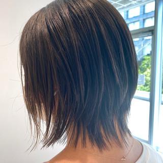 切りっぱなしボブ 外ハネ 大人かわいい ショートヘア ヘアスタイルや髪型の写真・画像