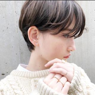 ショート 透明感 ショートヘア ガーリー ヘアスタイルや髪型の写真・画像