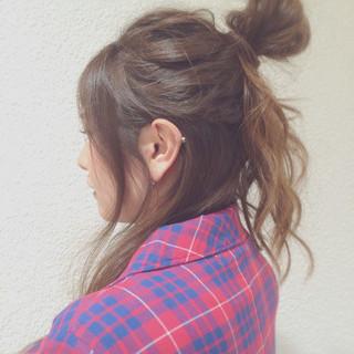 簡単ヘアアレンジ ウェーブ ロング ヘアアレンジ ヘアスタイルや髪型の写真・画像