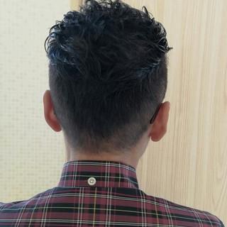 ショート 暗髪 パーマ 刈り上げ ヘアスタイルや髪型の写真・画像