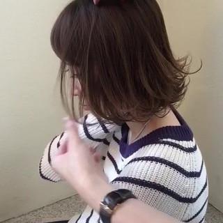 ハイライト アッシュ ボブ パーマ ヘアスタイルや髪型の写真・画像