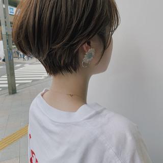 ショートボブ デート ショート ヘアアレンジ ヘアスタイルや髪型の写真・画像