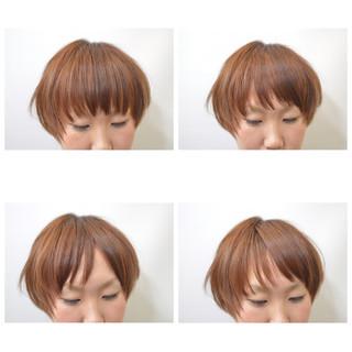 前髪あり ストレート ナチュラル ボブ ヘアスタイルや髪型の写真・画像