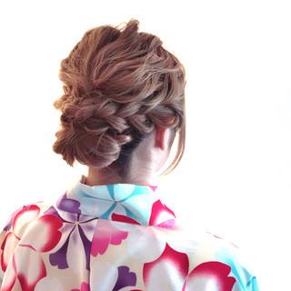 パーティ 結婚式 ロング ゆるふわ ヘアスタイルや髪型の写真・画像