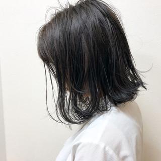 切りっぱなし ミディアム 外国人風 ロブ ヘアスタイルや髪型の写真・画像