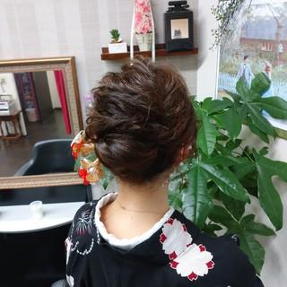浴衣ヘア ヘアアレンジ ロング ナチュラル ヘアスタイルや髪型の写真・画像
