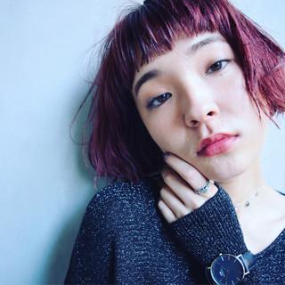 ボブ デート リラックス 女子会 ヘアスタイルや髪型の写真・画像