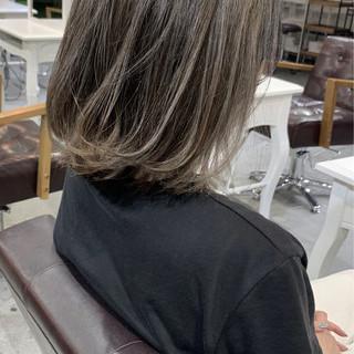 ナチュラル ボブ 透明感カラー 大人かわいい ヘアスタイルや髪型の写真・画像