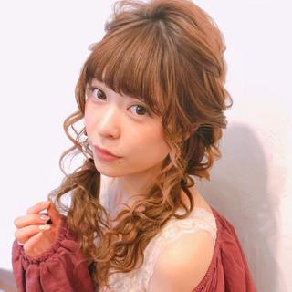かわいい ヘアアレンジ セミロング ツインテール ヘアスタイルや髪型の写真・画像