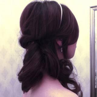 アップスタイル ヘアアレンジ ショート ロング ヘアスタイルや髪型の写真・画像
