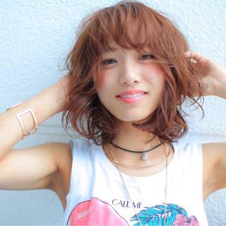 夏 ピュア ストリート 外ハネ ヘアスタイルや髪型の写真・画像