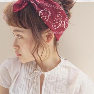 簡単ヘアアレンジ 外国人風 ミディアム 大人かわいい ヘアスタイルや髪型の写真・画像