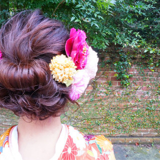 成人式 ゆるふわ ヘアアレンジ アップスタイル ヘアスタイルや髪型の写真・画像