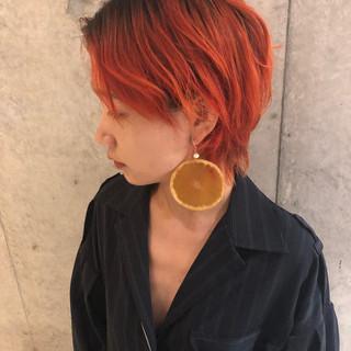 ショート モード ヘアアレンジ ウルフカット ヘアスタイルや髪型の写真・画像
