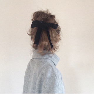 ロング セルフヘアアレンジ ショート ゆるふわ ヘアスタイルや髪型の写真・画像
