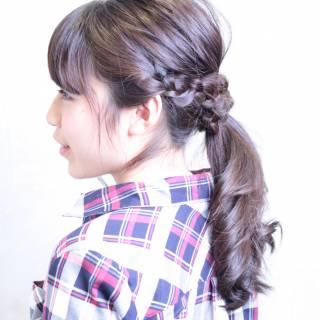 ショート 簡単ヘアアレンジ セルフヘアアレンジ こなれ感 ヘアスタイルや髪型の写真・画像