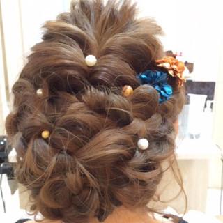 編み込み ガーリー ロング ショート ヘアスタイルや髪型の写真・画像