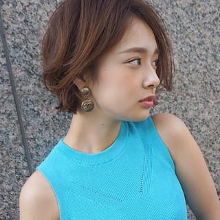 オフィス ボブ ヘアアレンジ フェミニン ヘアスタイルや髪型の写真・画像