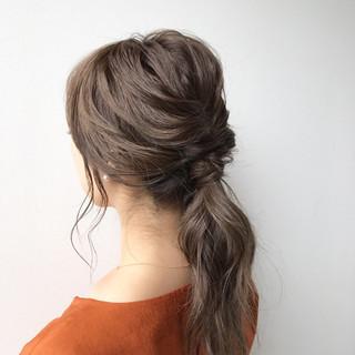 ミディアム 簡単ヘアアレンジ ショート ナチュラル ヘアスタイルや髪型の写真・画像