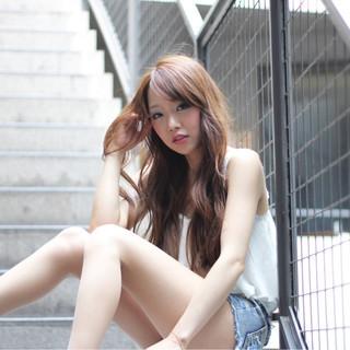 ガーリー 前髪あり ロング 外国人風 ヘアスタイルや髪型の写真・画像