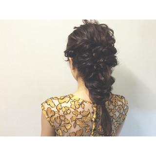 セミロング 夏 ショート ヘアアレンジ ヘアスタイルや髪型の写真・画像